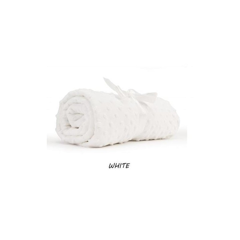 Tkanina MINKY plusz polar BIAŁY na kocyki poduszki