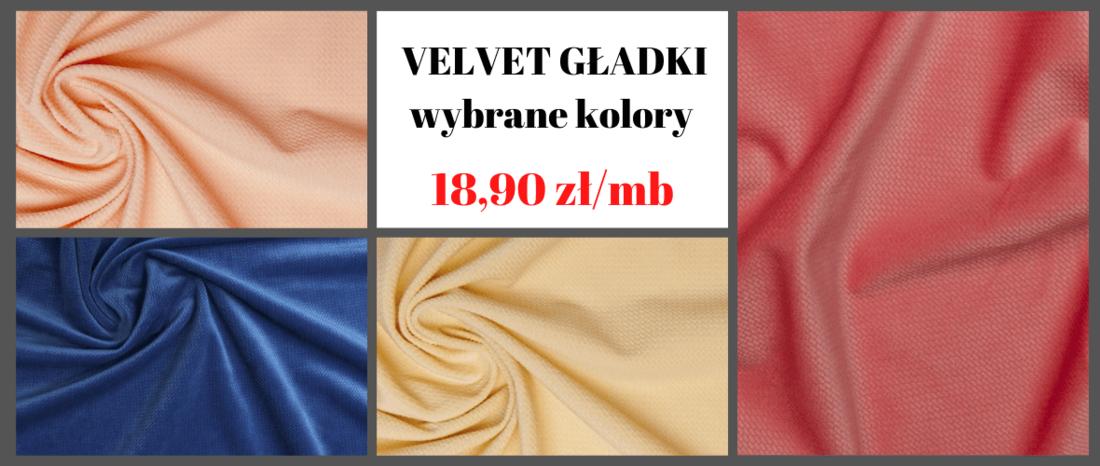 sklep z tkaninami - velvet gładki w dobrej cenie